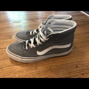 Vans Sk8 Hi Top Sneakers Grey Canvas Size 11